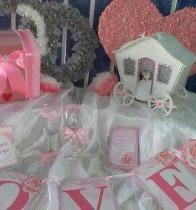 Декор на ,,Розовую-Оловянную,,свадьбу