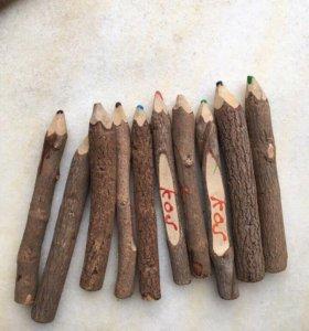 карандаши из дерева