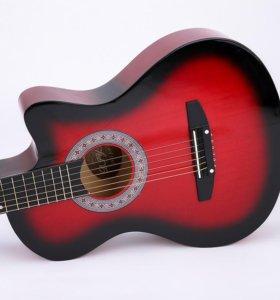 Гитара для начинающих новая + чехол