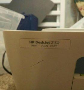 МФУ Принтер, сканер. HP deskjet 2130