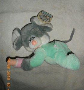 НОВАЯ мягка игрушка мышь-младенец,с этикеткой.