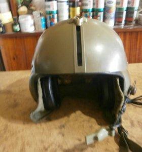 Американский вертолетный шлем с гарнитурой