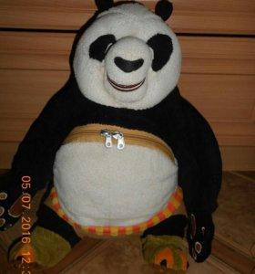 Мягкая игрушка-сумка Кунг-фу панда из мультика.