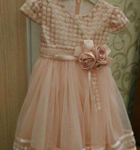 Детское нарядное платье, размер 2-3 года