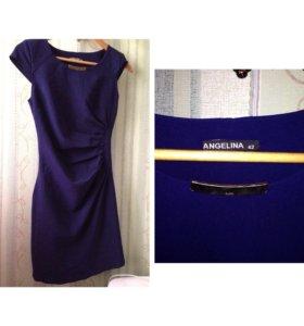 Платье 42 размера, темно-синего цвета