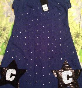 Новое платье х/б с подкладом