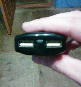 Зарядка для телефонов, планшетов с 2 USB входами