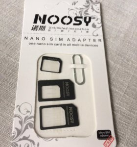 Адаптер сим нано/микро + скрепка sim nano/micro