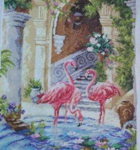 """Картина """"Розовый фламинго"""""""