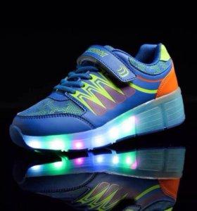Светящиеся кроссовки ролики