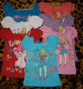 Детские футболки новые