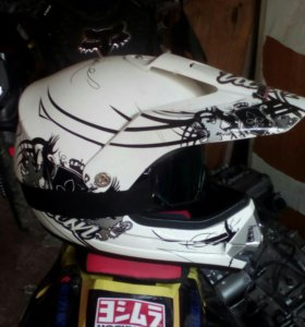 Шлем кроссовый со стеклом
