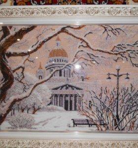 """Картина, вышитая бисером """"Санкт-Петербург"""""""