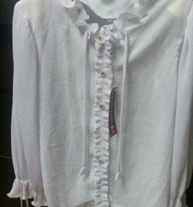 Новая белая блузка на девочку