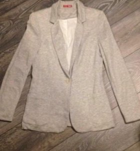 Пиджак Zara жакет кардиган серый трикотажный