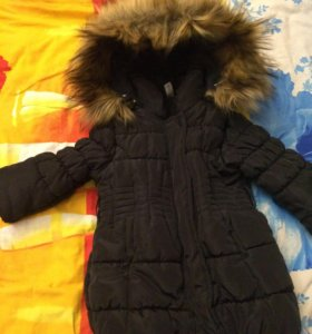 Пальто на девочку 12 мес
