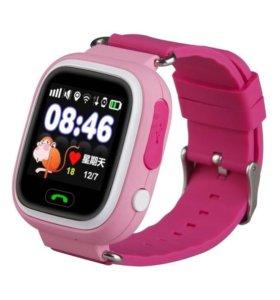 Детские сенсорные GPS часы Q90