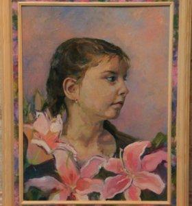 Портрет маслом по фото.
