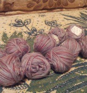 Нитки шерсть-штопка для вязания