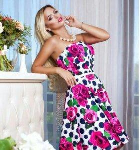 Распродажа Модное платье клеш