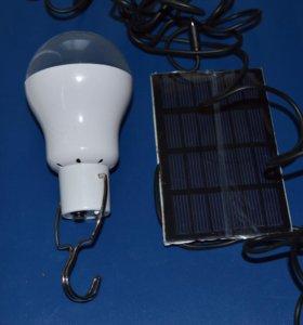 🐈 Яркая светодиодная лампочка + солнечная батарея