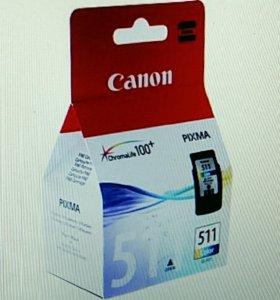 Новый картридж Canon CL-511 цветной оригинальный