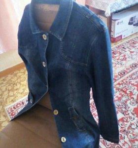 Джинсовый плащ джинсовка