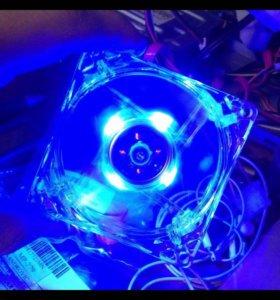 Вентилятор, кулер для ПК 12в новый с подсветкой