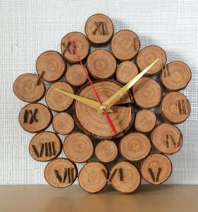 Часы из спилов
