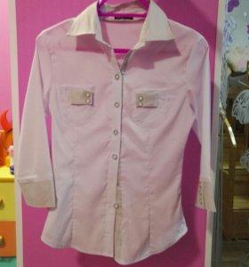 Белая блузка на 10-11лет