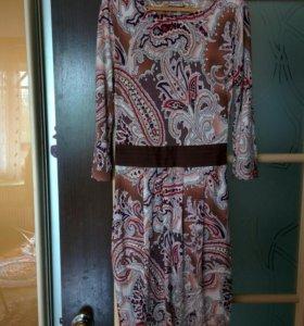 Платье трикотажное Incity рисунок индийский огурец