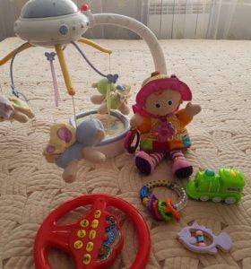 детские игрушки.разные  мобиль идеальное состояние