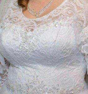 Продам свадебное платье размер 54-56.