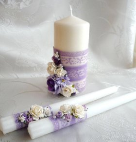 Свадебные свечи,семейный очаг