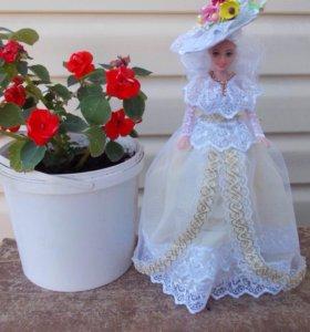 Интерьерная кукла-шкатулка