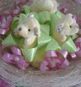 Букеты с мишками