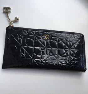 Кожаный кошелёк портмоне Шанель CHANEL 12*24 см