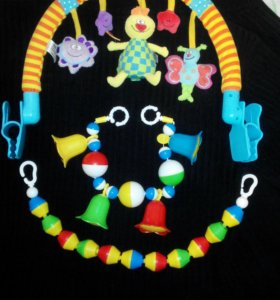 Интересная дуга Taf Toys +растяжки на коляску