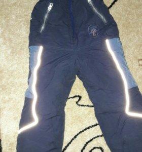 Тёплые штаны зимние рост 110