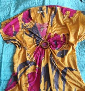 Шелковый топ блуза BGN