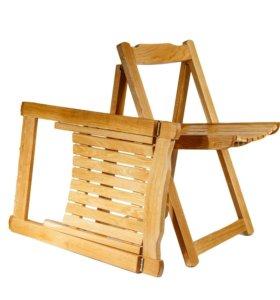 Дубовый складной стул