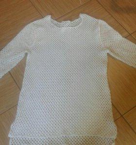 Вязаная мужская кофта (кольчужная вязка)