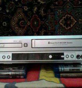 DVD+VHS/шестиголовочный/ стерео
