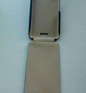 Кожаный чехол на телефон Леново А5000