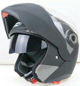 Матовый мото шлем модуляр мотошлем трансформер