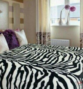 Плед плюшевый зебра