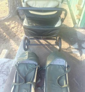 Детская двухместная коляска