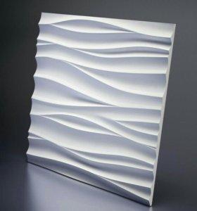 3D панели гипсовые 600×600