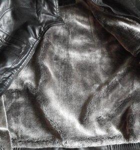 Куртка мужская кожанная. р52