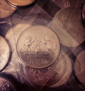 Монета талисманы Сочи 2014